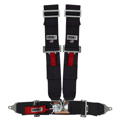 3 Inch Crow Harness Standard Latch Black 3x3 4-Point