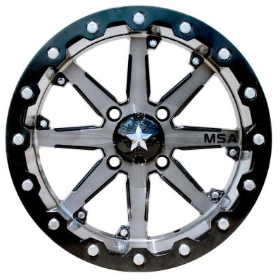 M23 Battle Matte Black UTV Wheel ATV Wheel by MSA Wheels