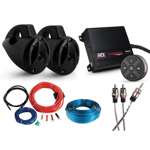 Mtx Utv 2 Speaker Package W Bluetooth Ebay