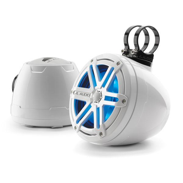 White Jl Audio Vex Pods Utv Cage Mounted Speakers Pair